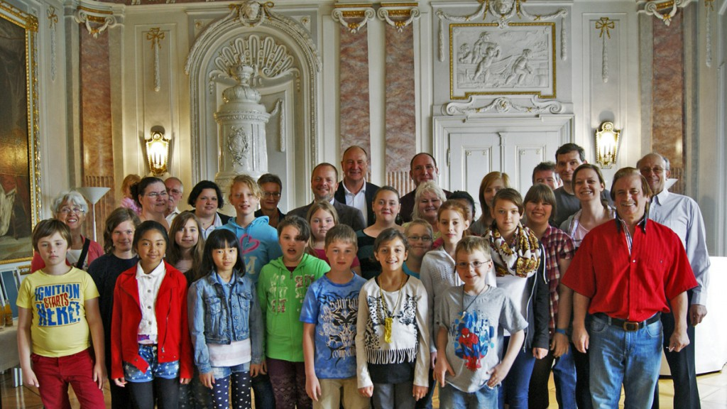 Hier beim Empfang im Lauinger Rathaus am 21. Juni 2014