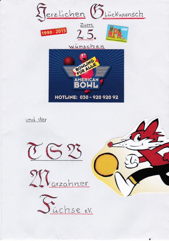 Gratulation Marz. Füchse